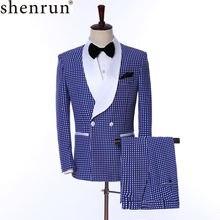 Мужские костюмы shenrun облегающие модные смокинги Свадебный
