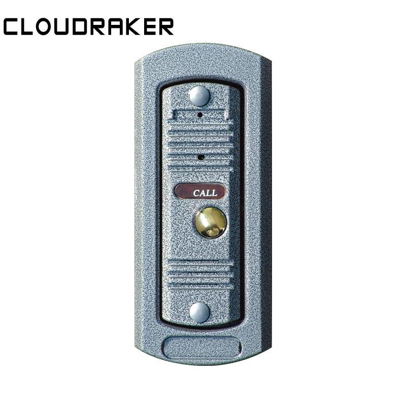CLOUDRAKER Door Phone Intercom Home Security Video Intercom Apartment Doorbell Video IR Night Vision Outdoor Call Panel