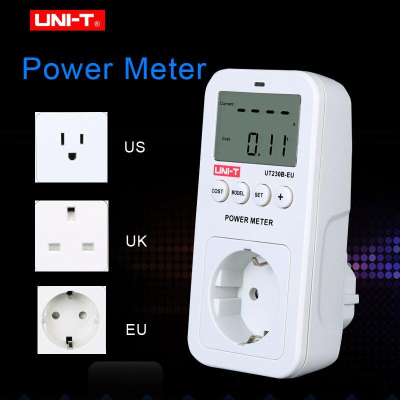 UNI-T UT230B-EU wattmetro Tensione Corrente Costo di Frequenza Misuratore di Potenza il Consumo di Energia del Monitor A CRISTALLI LIQUIDI