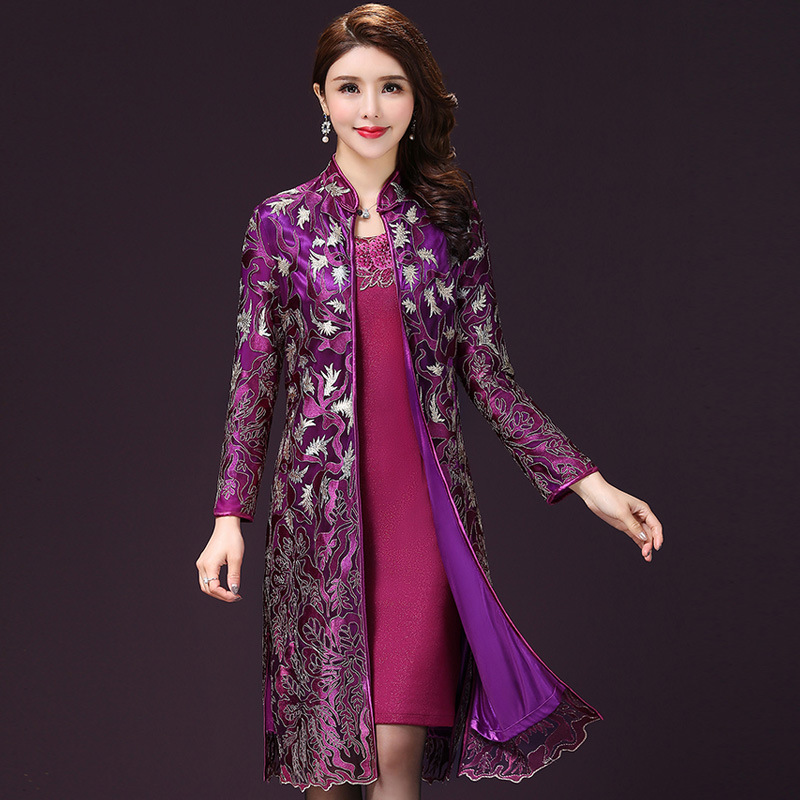 Two Piece Lace Mother of the Bride Dresses Knee Length Long Sleeve Wedding Guest Gowns with Jacket Special Occasion Dress