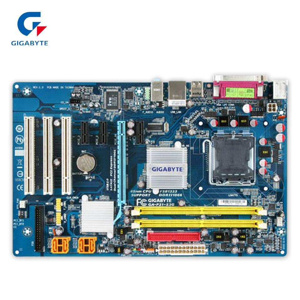 Original Gigabyte GA-P31-S3G Desktop Motherboard P31-S3G P31 LGA 775 DDR2 4G SATA2 ATX 100% Fully Test original gigabyte ga 945gcm s2c desktop motherboard 945gcm s2c 945gc lga 775 ddr2 4g sata2 micro atx 100% fully test