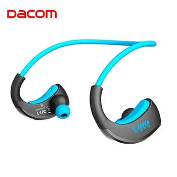 Dacom ARMOR Waterproof Sports Wireless Headphones Bloototh Bluetooth Earphones Headset Ear Phones with Handsfree Mic for Running
