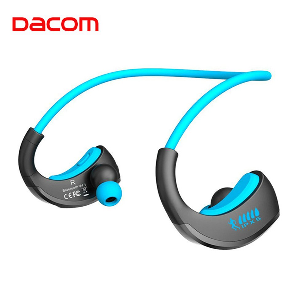 Dacom ARMOR Waterproof Running Sports Wireless Headphones Bloototh Bluetooth Earphones Headset Ear Phones With Handsfree Mic