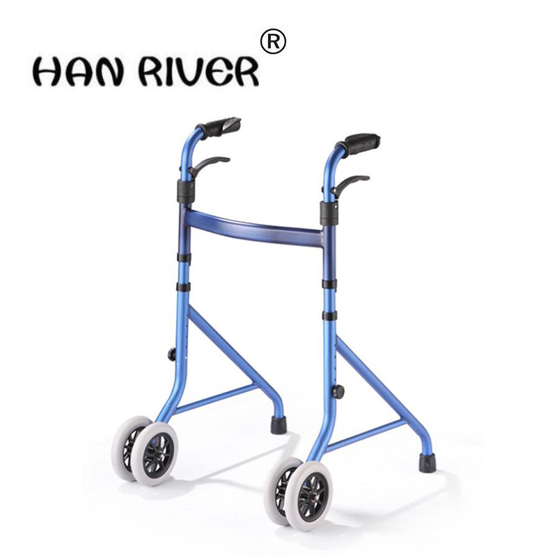 HANRIVER 2018 The new type of home - type elderly light fold-folding aid for walking walkers with wheelchairs and wheelchairs цены