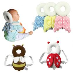 Baby Head Protection Pillow Toddler Headrest Pad Neck Protector Wings Nursing Drop Resistance Cushion Baby Bedding Backpack Mat