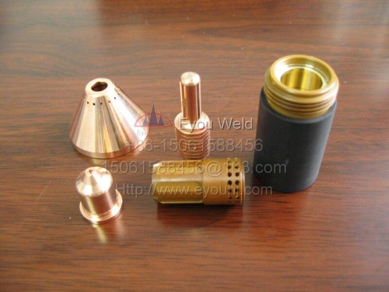 40pcs Electrode 220842 Consumables for Plasma Cutting Machine 45 65 85 105A