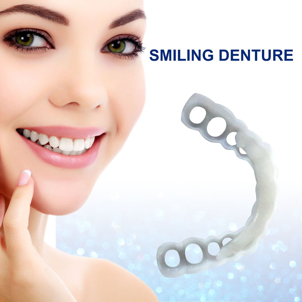 Comfortable Snap On Men Women Tooth Instant Perfect Smile Comfort Fit Flex Teeth Fits Whitening Smile False Teeth Cover