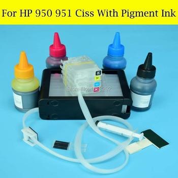 Inchiostro HP 950 951   4X100 ML Inchiostro Pigmentato Con Ciss Per HP950 951 Continua Sistema Di Alimentazione Di Inchiostro Per HP Officejet 8100 8600 8620 8630 Stampante