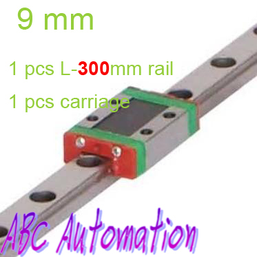 Free Shiping miniature linear slide for 1pcs MR9 L300mm linear rail + 1pcs MGN9C standard carriage for CNC router XYZ table
