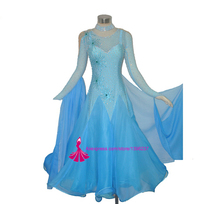 Ballroom Competition Dance Dress Modern Waltz Tango Standard juvenile women ballroom dance skirts