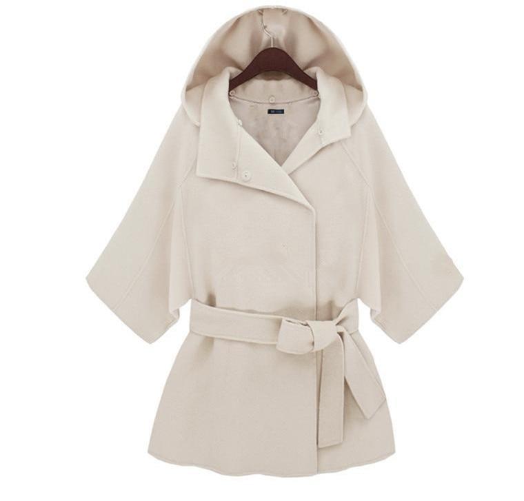 Renard Blanc Mélange Fourrure Laine Xs Col Beige 2xl Femmes Imité De Cachemire long Manteau Milieu Tissus Mode 6IgxwnEUq