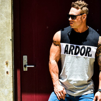 Fashion Men Gyms Muscle Cotton Tank tops bodybuilding Equipment Stringers Men's Y BACK Racer Vest fitness Workout Tops