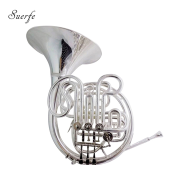 Alexander 103 F/Bb French Horn musical instruments Double French horn Silver plated with case mouthpiece c key piston trombone with case mouthpiece yellow brass body lacquer silver plated finish wind musical instruments