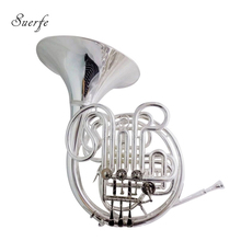 Professional Gold brass F/Bb Four key French Horn Copy of Alexander 103 With foambody case