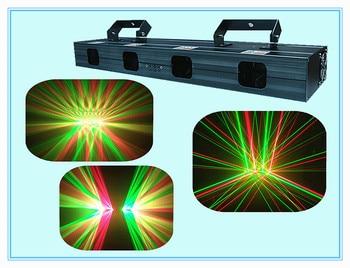 Rasha 핫 400 mw 듀얼 레드 듀얼 그린 4 렌즈 rg 레이저 라이트 레이저 빔 라이트 레이저 비 스테이지 파티 이벤트 dj 클럽 라이트 크리스마스