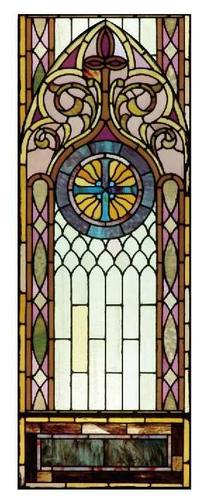 Gothic Rose Window Film Gl Films Frosted Stained Fake