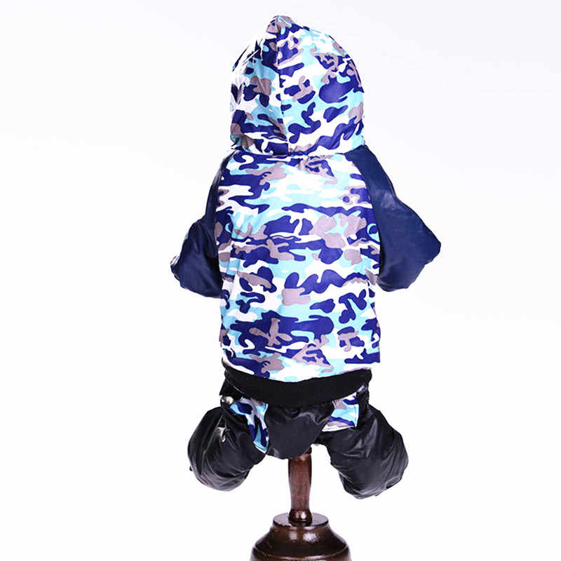 Камуфляжная для собаки, комбинезон с капюшоном, комбинезон для собаки, пальто для щенка, теплая одежда, флис, Осень-зима, для домашних животных, DOGGYZSTYLE