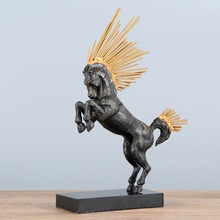 Model Room Decoration Metal Ornaments Hotel Clubhouse Living Crafts Wrought Iron Horse Gifts
