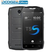 Doogee T5s IP67 Водонепроницаемый мобильные телефоны 5.0 дюйма HD 2 ГБ Оперативная память + 16 ГБ Встроенная память Android 6.0 Dual SIM MTK6735 Quad Core 8.0MP 4500 мАч WCDM