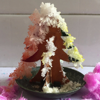 50PCS Newly 2019 65mm H Multicolor DIY Paper Growing Magic Tree Mini Magically Christmas Trees Kids Science Toys Novelties Funny