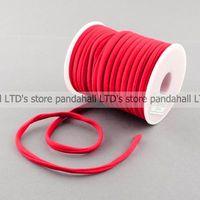 Nylon Thread Habotai Foulard Cord Red 5x3mm About 20m Roll