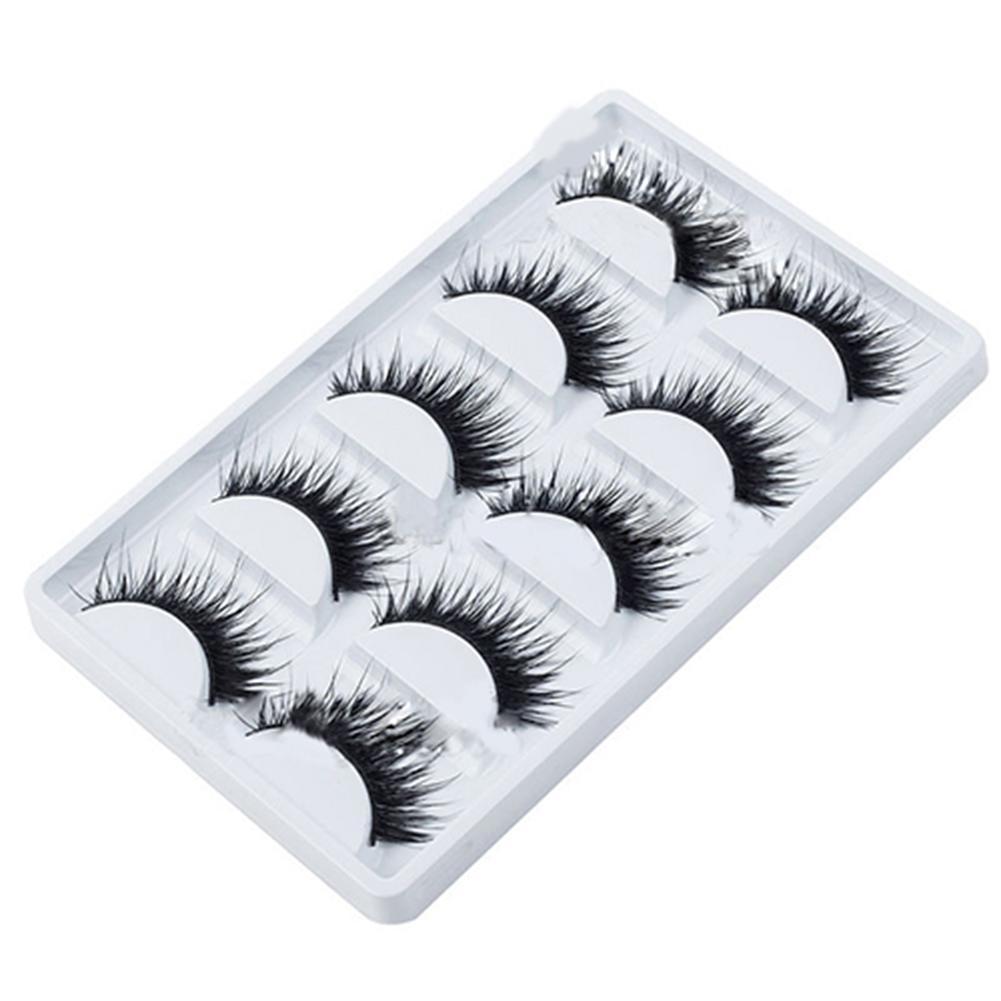 False Eyelash 5 Pairs Makeup False Eyelashes Handmade Long Thick  Fake Eye Lashes Extension