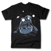 ACROSS THE GALAXY astronaut rowers dtg mens t shirt tees new 2018 100% Cotton Short Sleeve O-Neck Tops Tee Shirts цена и фото