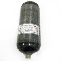 AC3120 High Pressure 4500psi 12L Hunting PCP Paintball Tank Rifle Carbon Fiber Air Cylinder 300BAR M18*1.5 Thread Drop Shipping