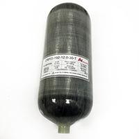 New High Pressure 4500psi 12L Hunting PCP Paintball Tank Rifle Carbon Fiber Air Cylinder 300BAR M18*1.5 Thread