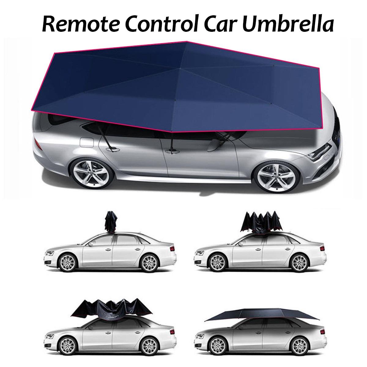 Auvent automatique tente bâche de voiture en plein air étanche pliable couverture d'auvent de voiture Portable abri solaire tente de toit de voiture télécommande
