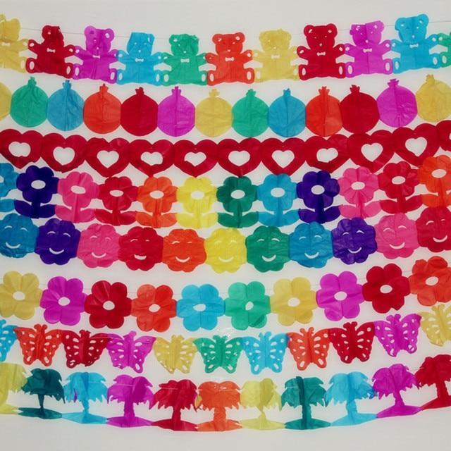 3m children s day cartoon colored paper garlands baby nursery