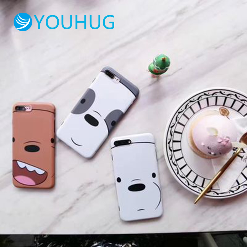 Cartoon Cute Naked Bear for Iphone7plus Mobile Shell Iphone 8plus / X Protective Case All-inclusive