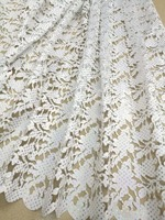 Laser cut lace fabric Nigeria French fabric 2019 high quality African tulle lace fabric