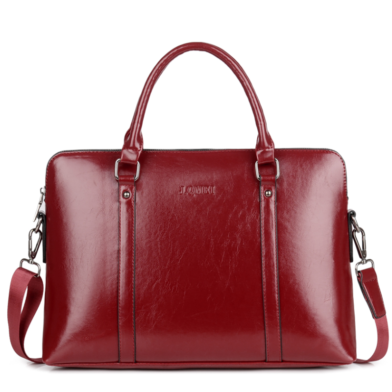 Business Briefcase Laptop Office Waterproof 15-Pu-Leather Women Notebook Shoulder-Crossbody-Handbag
