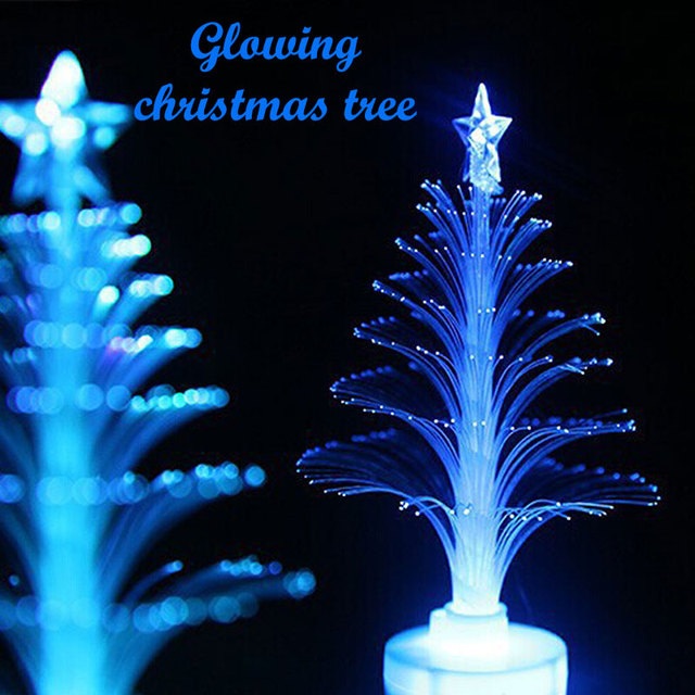 Colorful Glowing LED Fiber Optic Nightlight Christmas Tree Color Changing  Light Lamp Decoration For Home Christmas