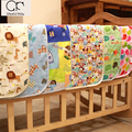 2016 newborn 100% Cotton cartoon cute Large size breathable waterproof Baby Nappy Changing pad Hi-Q upset Changing Pads & Covers