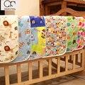 2016 recém-nascidos 100% Algodão bonito dos desenhos animados tamanho Grande respirável à prova d' água Fralda Mudança Do Bebê pad Hi-Q chateado Mudando Almofadas & Covers