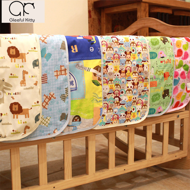 2017 newborn 100% Cotton cartoon cute Large size breathable waterproof Baby Nappy Changing pad Hi-Q upset Changing Pads & Covers
