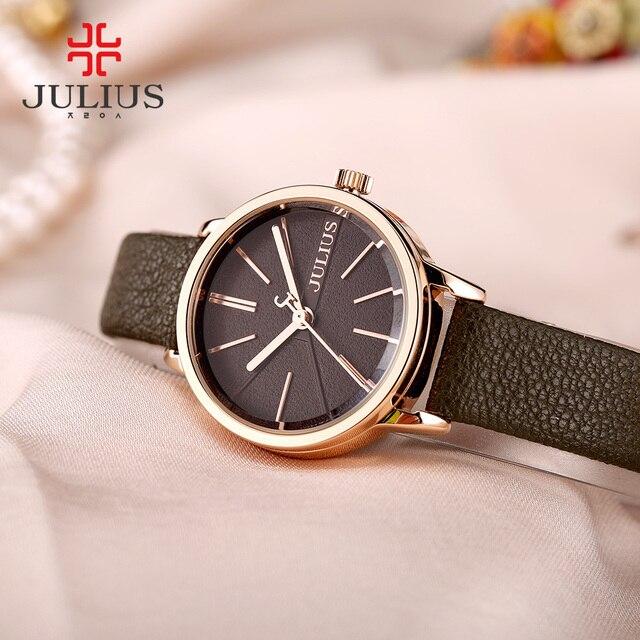 61456dcd88e 5 cores new lady mulheres assistir japão relógio de quartzo moda fina horas  julius vestido pulseira