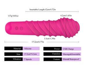 Image 4 - FAAK قوية البظر الهزاز للنساء سيليكون ماجيك AV عصا الجسم لعبة جنسية للمساج الإناث الاستمناء رجل منتجات جنسية 7 سرعة