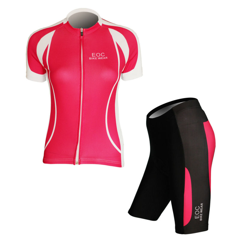 ФОТО New Women's Cycling Bicycle Bike Comfortable Outdoor Jersey Kits Size S- XXL WEOCK001