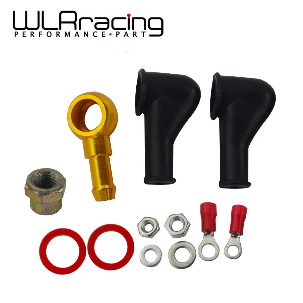 Wlr racing-044 bomba de combustível banjo kit de montagem adaptador de mangueira união 8mm saída cauda WLR-FK046