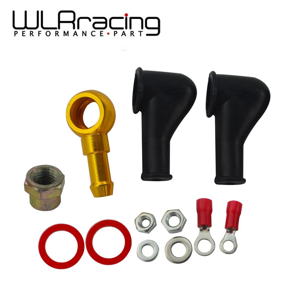 Wyścig wlr-044 pompa paliwa do montażu banjo zestaw złączka do węża unii 8MM wylot ogon WLR-FK046