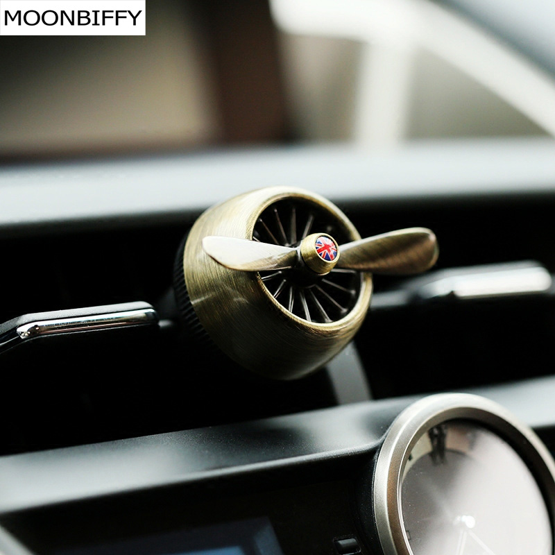 MOONBIFFY Air force 2 creative car outlet vent clip air freshener perfume fragrance scent sweet smell aromatic cologne bouquet car outlet perfume air freshener with thermometer lime