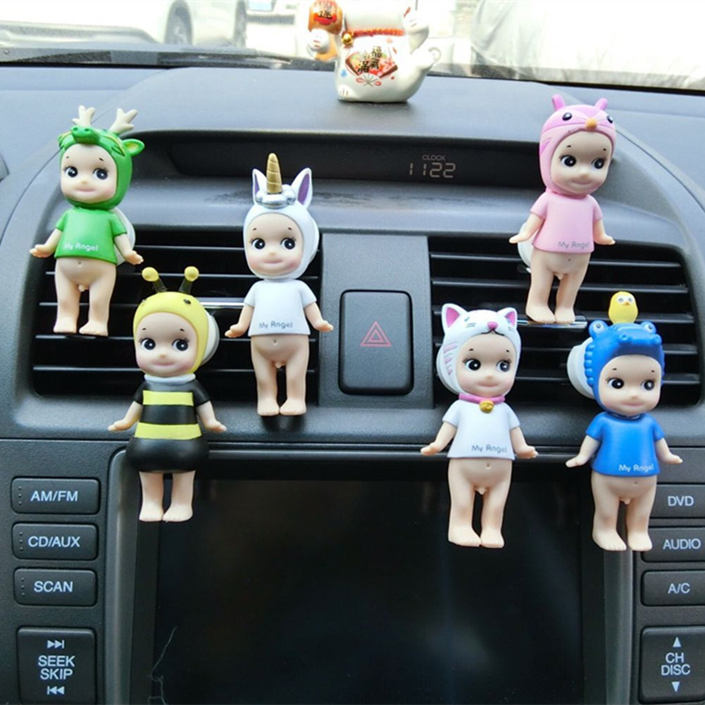 Car Perfume Clip Animal Angel Dolls Fragrance Air Vent Freshener Auto Interior Outlet Decoration Trim Diffuser Accessory Gifts