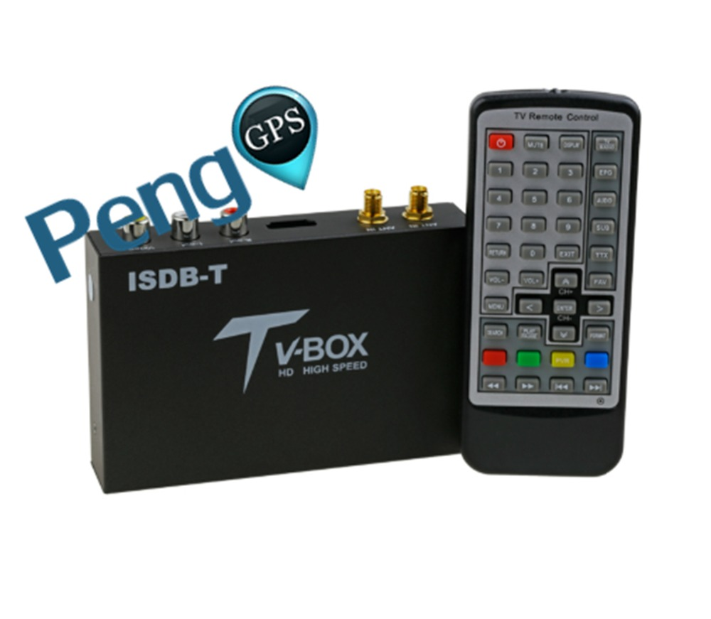 Car Digital Tv Box External Isdb-t Tv Full Seg Dual Tunners For Brazil/peru/argentina(south American Countries)/japan/philippine