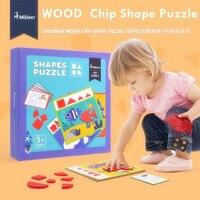 2017 mới mideer trẻ em của mầm non hình học jigsaw puzzle đồ chơi hình dạng câu đố LL148