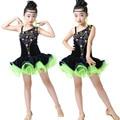 Sequin Girls Ballroom Latin Dance dress Kids Ballet Jazz Performance Costumes  competition skating dresses kleid ballroom frauen