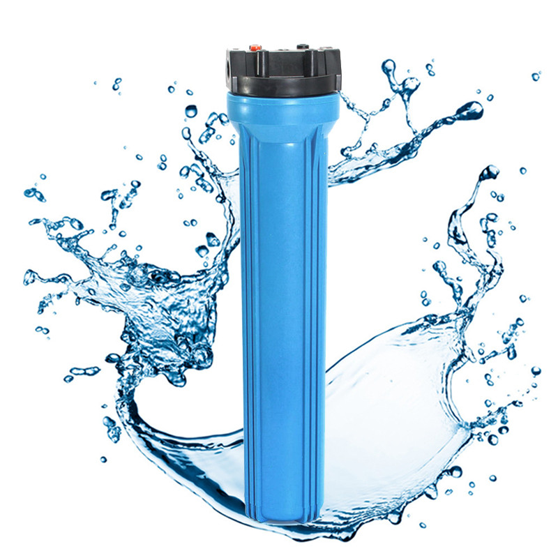 20 Inch Water Purifier Common Used 20 inch Filter Flask 1/2'' Internal Thread Blue for Household Water Filter