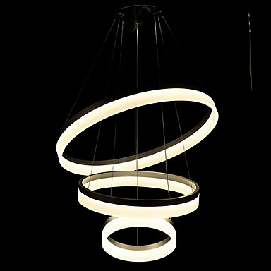 60CM Three Rings Round Acrylic Modern LED Pendant Light Fixtures For Dinning Living Room Handing Lamp Lamparas Colgantes